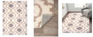 "Main Street Rugs Home Bahia Shag Bas2525 Cream 7'10"" x 10' Area Rug"