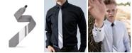 Modern Tie Men's 2-Tone Striped Tipping Athletica Slim Single Tie