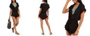 Dotti Treasure Ruffle-Trim Romper Cover-Up, Created for Macy's
