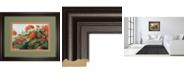 "Classy Art Geranium Wave by Carol Rowan Framed Print Wall Art, 34"" x 40"""
