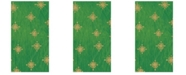 Caspari Starry Green Paper Guest Towel