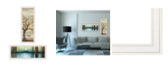 """Trendy Decor 4U I met You/Living your Dreams 2-Piece Vignette by Marla Rae, White Frame, 15"""" x 39"""""""