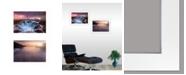 "Trendy Decor 4U Future Genesis 2-Piece Vignette by Moises Levy, White Frame, 21"" x 15"""