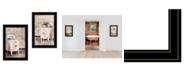 "Trendy Decor 4U Laundry Room 2-Piece Vignette by Lori Deiter, Black Frame, 15"" x 21"""