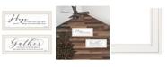 "Trendy Decor 4U Gather Together 2-Piece Vignette by Lori Deiter, White Frame, 23"" x 11"""