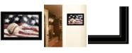 "Trendy Decor 4U Baseball - Playing the Game by Lori Deiter, Ready to hang Framed Print, Black Frame, 21"" x 15"""