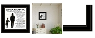 """Trendy Decor 4U My Grandpa is the Best by Cindy Jacobs, Ready to hang Framed Print, Black Frame, 15"""" x 15"""""""