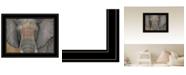 "Trendy Decor 4U Tattooed Elephant by Britt Hallowell, Ready to hang Framed Print, Black Frame, 19"" x 15"""