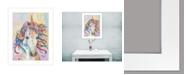 "Trendy Decor 4U Dazzle-Unicorn by Lisa Morales, Ready to hang Framed Print, White Frame, 15"" x 19"""