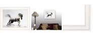 "Trendy Decor 4U Running White Stallion by andreas Lie, Ready to hang Framed Print, White Frame, 19"" x 15"""