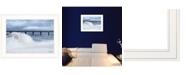 "Trendy Decor 4U Blue Waves by Lori Deiter, Ready to hang Framed Print, White Frame, 21"" x 15"""
