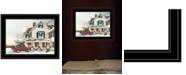 "Trendy Decor 4U Preparing for Christmas by John Rossini, Ready to hang Framed Print, Black Frame, 19"" x 15"""