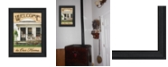 """Trendy Decor 4U Welcome to Our Home By John Rossini, Printed Wall Art, Ready to hang, Black Frame, 18"""" x 14"""""""