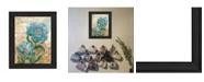 "Trendy Decor 4U Paris Blue II By Ed Wargo, Printed Wall Art, Ready to hang, Black Frame, 14"" x 18"""