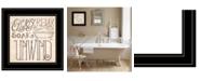 "Trendy Decor 4U Soak Relax by Deb Strain, Ready to hang Framed Print, Black Frame, 15"" x 15"""
