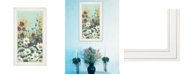 """Trendy Decor 4U Floral Field Day by Michele Norman, Ready to hang Framed Print, White Frame, 15"""" x 27"""""""