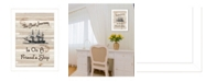 """Trendy Decor 4U Friendship Journey by Millwork Engineering, Ready to hang Framed Print, White Frame, 10"""" x 14"""""""