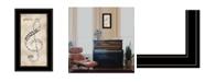 "Trendy Decor 4U Play It by Marla Rae, Ready to hang Framed Print, Black Frame, 12"" x 21"""
