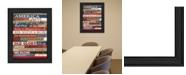 "Trendy Decor 4U America Proud By Marla Rae, Printed Wall Art, Ready to hang, Black Frame, 20"" x 26"""