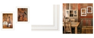 """Trendy Decor 4U Music / Nevermore 2-Piece Vignette by Billy Jacobs, White Frame, 15"""" x 21"""""""