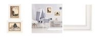 "Trendy Decor 4U Gone Fishing 2-Piece Vignette by Mary June, White Frame, 19"" x 15"""