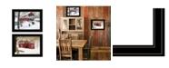 "Trendy Decor 4U Trendy Decor 4U Winter Evening 2-Piece Vignette by Billy Jacobs, Black Frame, 19"" x 15"""