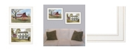 """Trendy Decor 4U Summer's End 2-Piece Vignette by Billy Jacobs, White Frame, 19"""" x 15"""""""