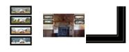 "Trendy Decor 4U Billy Jacobs Four Seasons Collection V 4-Piece Vignette, Black Frame, 27"" x 11"""