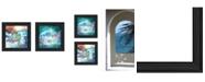 "Trendy Decor 4U Mermaids 2-Piece Vignette by Bluebird Barn, Black Frame, 15"" x 15"""