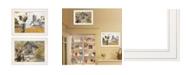 "Trendy Decor 4U Down on the Farm 2-Piece Vignette by Ed Wargo, White Frame, 15"" x 19"""