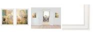 """Trendy Decor 4U Meandering Flowers I II 2-Piece Vignette by Dee Dee, White Frame, 21"""" x 27"""""""