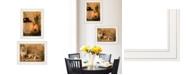 "Trendy Decor 4U Daffodils Cider 2-Piece Vignette by Anthony Smith, White Frame, 15"" x 21"""