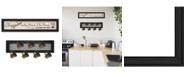 "Trendy Decor 4U The Kitchen Vignette 2-Piece Vignette with 7-Peg Mug Rack by Millwork Engineering, Black Frame, 33"" x 8"""