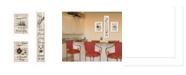 "Trendy Decor 4U The Kitchen Collection II 3-Piece Vignette by Millwork Engineering, White Frame, 10"" x 32"""