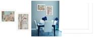 "Trendy Decor 4U Trendy Decor 4U Wings to Fly 2-Piece Vignette by Kenda Runnels, White Frame, 14"" x 20"""