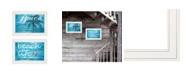 "Trendy Decor 4U Beach Life 2-Piece Vignette by Cindy Jacobs, White Frame, 15"" x 11"""