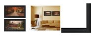 """Trendy Decor 4U October Lane Collection By Robin-Lee Vieira, Printed Wall Art, Ready to hang, Black Frame, 42"""" x 12"""""""