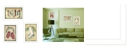 """Trendy Decor 4U Vintage-Like Christmas Collection By Jill Ankrom, Printed Wall Art, Ready to hang, White Frame, 42"""" x 20"""""""
