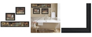 """Trendy Decor 4U Country Bath I Collection By Pam Britton, Printed Wall Art, Ready to hang, Black Frame, 67"""" x 17"""""""