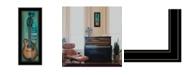 "Trendy Decor 4U I Will Sing by Tonya Crawford, Ready to hang Framed Print, Black Frame, 9"" x 21"""