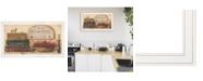 "Trendy Decor 4U Primitives Vintage-Like by Pam Britton, Ready to hang Framed Print, White Frame, 33"" x 19"""