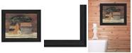 "Trendy Decor 4U Hot Bath By Pam Britton, Printed Wall Art, Ready to hang, Black Frame, 13"" x 16"""