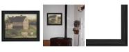 "Trendy Decor 4U Stone Barn By Pam Britton, Printed Wall Art, Ready to hang, Black Frame, 19"" x 15"""