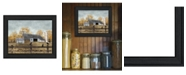 """Trendy Decor 4U A Casual Conversation By Billy Jacobs, Printed Wall Art, Ready to hang, Black Frame, 18"""" x 14"""""""