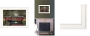 """Trendy Decor 4U Warm Summer's Eve by Billy Jacobs, Ready to hang Framed Print, White Frame, 19"""" x 15"""""""