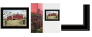 """Trendy Decor 4U Harbingers of Spring by Billy Jacobs, Ready to hang Framed Print, Black Frame, 27"""" x 21"""""""