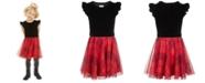 Epic Threads Little Girls Velvet & Plaid Dress, Created For Macy's
