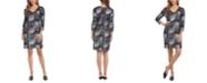 Karen Kane Metallic-Print Sheath Dress