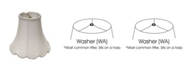 Cloth&Wire Slant Scallop Bell Softback Lampshade with Washer Fitter