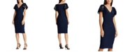 Lauren Ralph Lauren Sequin-Sleeve Jersey Dress